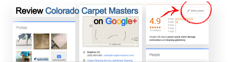 Review Colorado Carpet Masters on Google Plus
